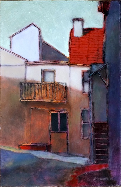Houses, door and stairs (St Ives)