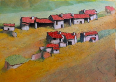 Houses on a hill (L'Ecot)