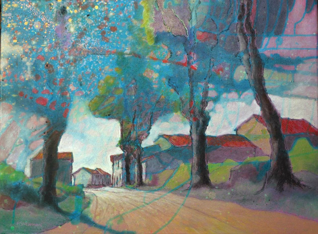 Road and plane trees (St André d'O.)