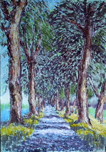 Trees by the canal (Pont de Vaux) II