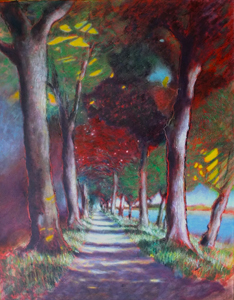 Trees by the canal (Pont de Vaux) IV